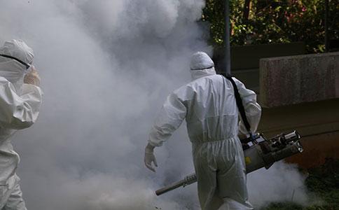 广州街道社区疫情消毒